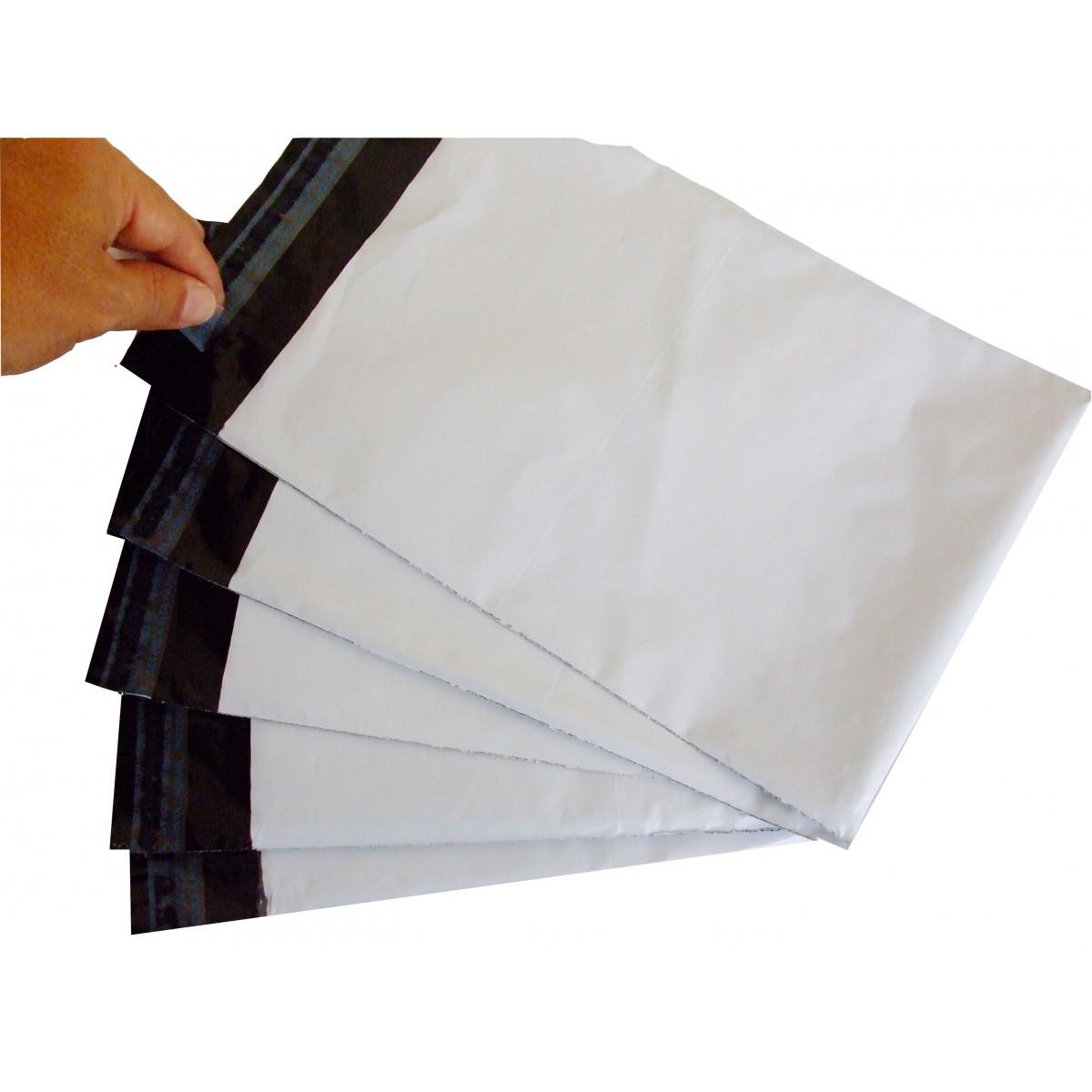 Envelope de Segurança Liso Branco L:32 X C:40 + 5 (Aba) cm