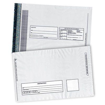 Envelope de Segurança Remetente E Destinatário Branco L:26 X C:36 + 5 (Aba) cm